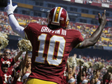 Washington Redskins - Sept 23, 2012: Robert Griffin III Plakater av Evan Vucci