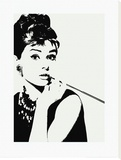 Audrey Hepburn: Cigarillo Stretched Canvas Print