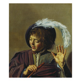 Young Singer with Flute, about 1623/25 Giclee Print by Frans Hals