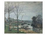 The Washing House in Port-Maly (Pontoise) 1872 Posters by Camille Pissarro