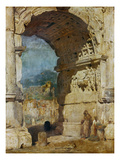The Arch of Titus, Rome, 1858 Prints by Franz Seraph von Lenbach