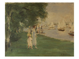 The Yacht Race. Landscape of Wannsee, 1924 Giclee Print by Max Liebermann