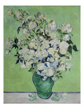 Vase with White Roses, 1890 Reproduction procédé giclée par Vincent van Gogh