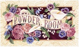 Powder Room Print on Canvas by Karen Avery