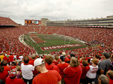 University of Wisconsin: A Sea of Red at Camp Randall on Game Day in Madison Photographic Print