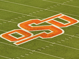 Oklahoma State University: OSU Logo on the Field at Boone Pickens Stadium Prints
