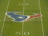 Houston Texans - Sept 9, 2012: Texans Logo on the Field at Reliant Stadium Photographic Print by Dave Einsel