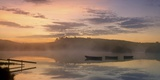 Three Boats in the Mist Print on Canvas by Robert Strachan