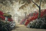 Garden Serenity Print on Canvas by Juan S.E. Archuleta