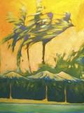 Palapas in Belize Print on Canvas by Jimpsie Ayres