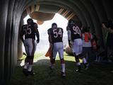 Chicago Bears - Sept 9, 2012: Brian Urlacher, Lance Briggs, Julius Peppers Photographie par Nam Y. Huh