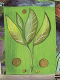 Leaf I Print on Canvas by Najah Clemmons