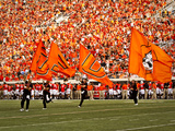 Oklahoma State University: OSU Flags on the Field at Boone Pickens Fotografisk tryk
