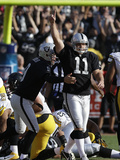 Oakland Raiders - Sept 23, 2012: Sebastian Janikowski Print by Marcio Jose Sanchez