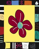 Bright Mosaic Flower Print on Canvas by Najah Clemmons
