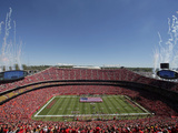 Kansas City Chiefs - Sept 9, 2012: Arrowhead Stadium Bilder av Charlie Riedel