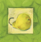 Yellow Pear Print on Canvas by Dona Turner
