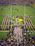 Louisiana State University: LSU Tigers Take the Field on Game Day Poster