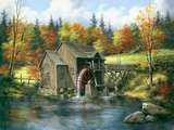 Mill At Black Rock Print on Canvas by Rudi Reichhardt