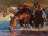 Four Across Print on Canvas by Karen Bonnie