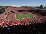 Kansas City Chiefs - Sept 9, 2012: Arrowhead Stadium Photographic Print by Charlie Riedel