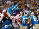 Carolina Panthers - Sept 20, 2012: Cam Newton Photo av Bob Leverone