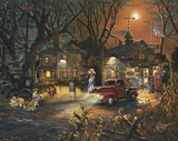 The Silver Wolf Lodge Print on Canvas by Aaron B. Faulkner