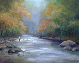 Autumn On The River Print on Canvas by Greg Cartmell