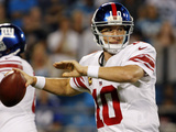 New York Giants - Sept 20, 2012: Eli Manning Fotografisk trykk av Bob Leverone