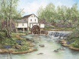 Pigeon Hollow Mill Print on Canvas by Sherry Masters