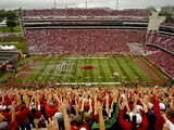 University of Arkansas: Calling the Hogs in Razorback Stadium Photographic Print