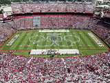 University of South Carolina: the Band Preforms Pregame in Williams-Brice Stadium Fotografisk tryk