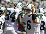 New York Jets - Sept 9, 2012: Mark Sanchez, Stephen Hill Photographic Print by Mel Evans