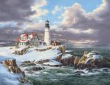 Portland Head Lighthouse Print on Canvas by Rudi Reichardt