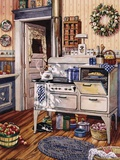 Comfy Kitchen Print on Canvas by Erin Dertner
