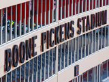Oklahoma State University: Boone Pickens Stadium Sign Photographic Print