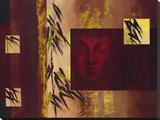 Buddha IV - Goldfoil Stretched Canvas Print by  Verbeek & Van Den Broek