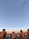 Denver Broncos - Sept 9, 2012: Flyover at Mile High Photographic Print by Joe Mahoney