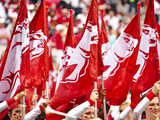 University of Arkansas: Arkansas Flags Fly on Game Day Photo