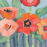 Poppin Poppies I Print on Canvas by M.J. Beswick