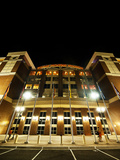 Oklahoma State University: Boone Pickens Stadium Lights Up at Night Photographic Print