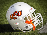 Oklahoma State University: OSU Football Helmet Photographic Print
