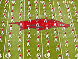 University of Arkansas: Arkansas Marching Band Performs at War Razorback Stadium Photographic Print