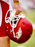 University of Arkansas: Arkansas Razorback Helmet Photographic Print