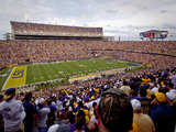 Louisiana State University: LSU Fans Pack Tiger Stadium on Game Day Fotografisk tryk