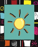 Bright Mosaic Sun Print on Canvas by Najah Clemmons