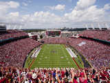 University of South Carolina: South Carolina: View from the Endzone at Williams Brice Stadium Fotografisk tryk