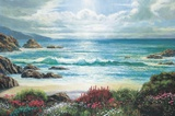 Blossoms By The Ocean Print on Canvas by Nenad Mirkovich