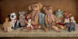 Teddy Bear Collection Print on Canvas by Janet Kruskamp