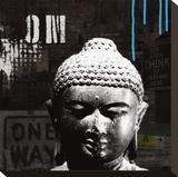 Urban Buddha I Leinwand von Linda Woods